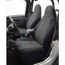 Coverking Custom Fit Seat Cover for Jeep Wrangler JK 4-Door - (Neoprene, Black/Charcoal)