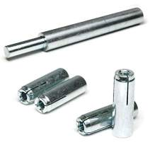 "Concrete & Stone Drop in Female Expansion Anchors with Setting Tool Zinc Plated Steel 3/8""-16 x 1-9/16"" Qty 50"