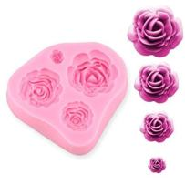 ELINKA Roses Flower Leaves Silicone Cake Tools Chocolate Sugarcraft Decorating Fondant Fimo Tool Gift