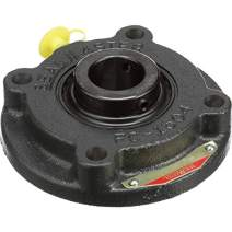 """Sealmaster MFC-47 Medium Duty Piloted Flange Cartridge, 4 Bolt, Regreasable, Felt Seals, Setscrew Locking Collar, Cast Iron Housing, 2-15/16"""" Bore, 8-3/4"""" Overall Length, 5-5/16"""" Bolt Hole Spacing Width, 5/8"""" Flange Height, ±2 Degrees Misalignment Angle"""
