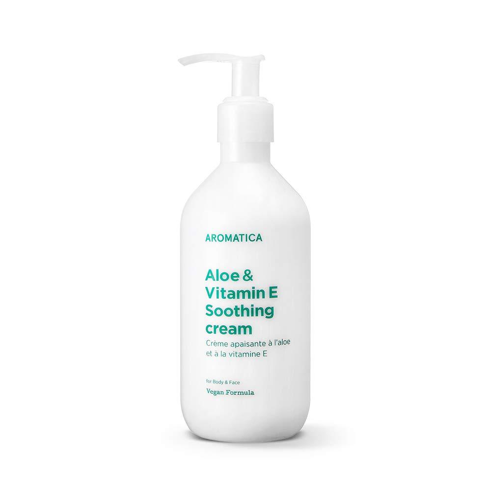 AROMATICA Aloe&Vitamin E Soothing Cream 10.14oz / 300ml, Soothing, Cooling, Moisturizing, Vegan