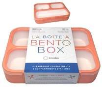 Bento Lunch-Box For Adults, Women | Bento-box Lunch-boxes with 3 Compartments | Container For Big Kids Teens, Work And School | Eco-friendly Leakproof Divided Containers | Coral - Peach