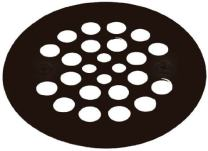 """Westbrass 4-1/4"""" O.D. Shower Strainer Plastic-Oddities Style, Oil Rubbed Bronze, D3193-12"""