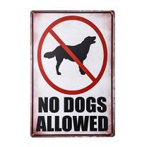 dingleiever-No Dogs Allowed Print Red White Black Poster Symbol Picture Business Office Store Yard Notice Sign