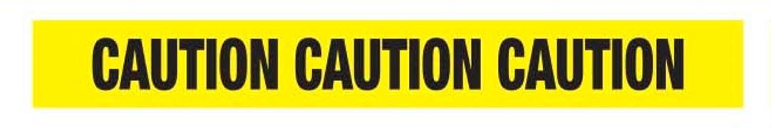 Ironwear Barricade Tape, Yellow Caution, 1000-Foot Roll 1.5 Mil (1103-01)