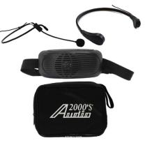 Audio2000s Awp6202b/tr15 Black Waist-band Battery Powered Amplifier Pa System Combo with Neck Mic