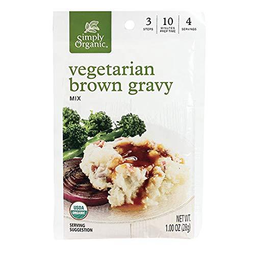 Simply Organic Vegetarian Brown Gravy Mix, Certified Organic, Vegetarian, Gluten-Free   1 oz   Pack of 12
