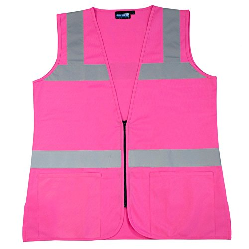 ERB 61914 S721 Non-ANSI Hi-Vizability Female Fitted Vest, Pink, 3X-Large
