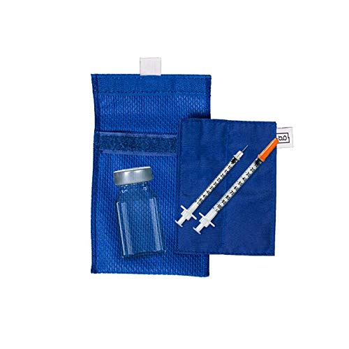 Glucology™ Insulin Cooling Wallet Pouch   No Ice Pack or Batteries Needed   New Innovative Technology   Perfect for Travel   Small Vial Pouch, Blue