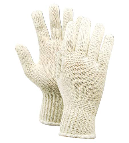 Magid Glove & Safety T132 KnitMaster Lightweight 7 Gauge Knit Gloves, Cotton Poly Blend, Men's (Fits Large), Natural (12 Pairs)