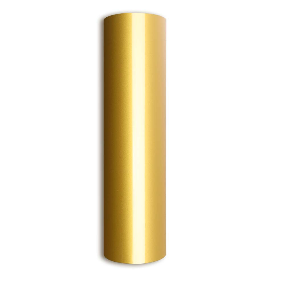 Gold Heat Transfer Vinyl Iron On HTV 10'' X 5' Roll for T-Shirts & Clothing and Fabric,Gold HTV
