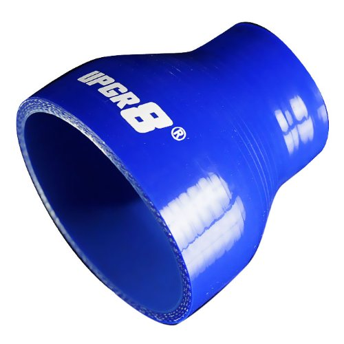 """Upgr8 Universal 4-Ply High Performance Straight Reducer Coupler Silicone Hose (1.75""""(45MM) to 3.0""""(76MM), Blue)"""