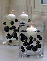 20 Packs Sale Floating Black Pearls - No Hole Jumbo/Assorted Sizes Vase Decorations + Includes Transparent Water Gels for Floating The Pearls