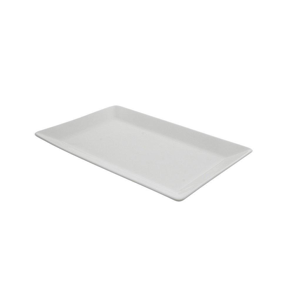 """10 Strawberry Street Whittier Elite 10.875"""" x 7"""" Rectangle Platter, Set of 6, White"""