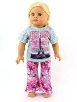 American Fashion World Paris Pajamas fits 18 Inch Doll