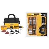DEWALT DWE315K Multi Material Corded Oscillating Tool Kit with DWA4216 5-Piece Oscillating Accessory Kit