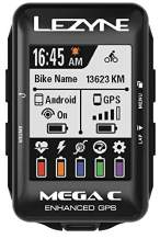 LEZYNE Mega C GPS Bike Computer, 32 Hour Runtime, ANT+, Bluetooth Smart Connectivity, USB Rechargeable, Cycling Computer