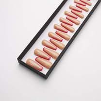 On The Edge Pink Extra Long Ballerina False Press on Nails