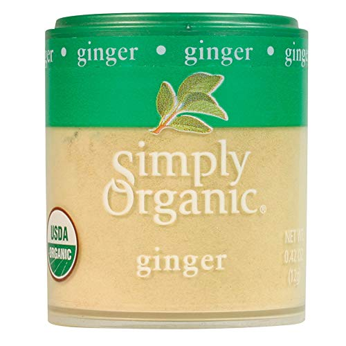 Simply Organic Ground Ginger Root, Certified Organic   0.42 oz   Pack of 6   Zingiber officinale Roscoe