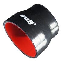 "Upgr8 Universal 4-Ply High Performance Straight Reducer Coupler Silicone Hose (3.0""(76MM) to 3.75""(95MM), Black)"