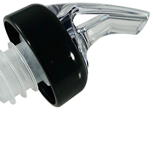 AmeriPour - Measured Pourer - Liquor Bottle Pourers - Collared -(3pk) Made 100% In The USA. Bar Spouts That Don't Leak - No Cracks, Just A Perfect Cocktail Pour Everytime. Great for Wine Too! (1.25oz)