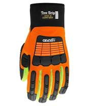 Cestus Tow Grip 101 Impact Protection Glove with Cotton Palm #3126C (Orange) (M)