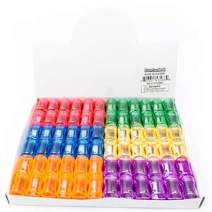 Fun Central 72 Pieces - Plastic Pencil Sharpener Manual in Bulk for School and Classroom Supplies - Assorted Colors