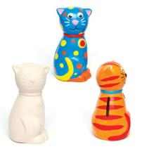 Baker Ross Ceramic Cat Coin Banks, Piggy Banks For Kids To Paint, Decorate and Display (Pack of 2)