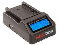 HEDBOX   RP-DC40   Digital LCD Display Battery Charger, for Sony NP- F550/F570/F750/F770/F930/F950/F960/F970, NP-FM50/QM71/QM91/QM71D/QM91D Camcorder Batteries