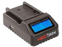 HEDBOX | RP-DC40 | Digital LCD Display Battery Charger, for Sony NP- F550/F570/F750/F770/F930/F950/F960/F970, NP-FM50/QM71/QM91/QM71D/QM91D Camcorder Batteries