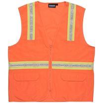 ERB 61751 S103 Non-ANSI Surveyor's Vest, Orange, 2X-Large