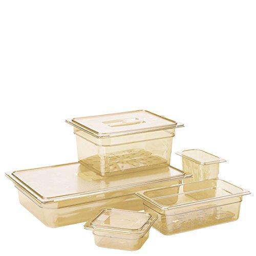 "Carlisle 3088813 StorPlus High Heat Food Pan, 6"" Deep, Ninth Size, Amber, 1/9 Size (Pack of 6)"