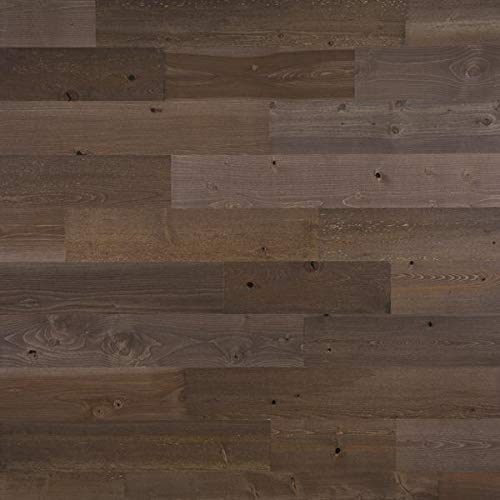 """Timberchic DIY Reclaimed Wooden Wall Planks - Simple Peel and Stick Application. (5"""" Wide - 40 Sq. Ft, Freestone)"""