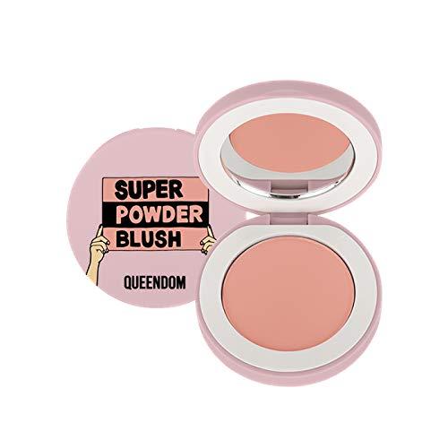 Queendom Super Powder Blush   Pink Tangerine Shade Highly Pigmented   Matte Powder Finish   Vegan, Cruelty Free, Paraben Free