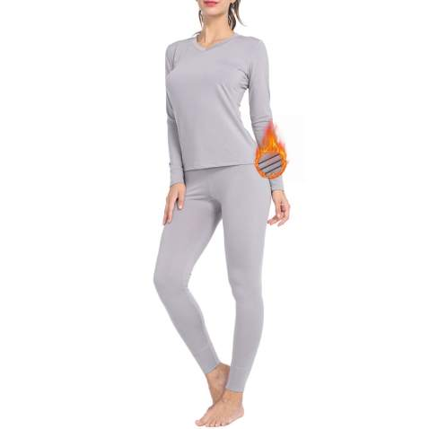 Thermal Underwear for Women Fleece Lined Basic Long John Set Ultra Soft