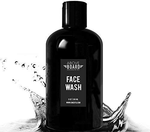 Above Board Face Wash for Men, Natural and Organic Multi Action Daily Facial Cleanser, 9 Ounce, Refreshing Scent with Eucalyptus and Peppermint Oils