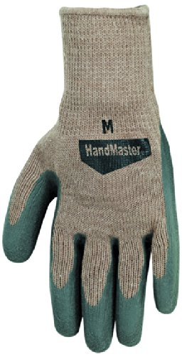 Magid 308T All Purpose Flexible Fit Knit Latex Palm Sure Grip Glove, Grey, Large