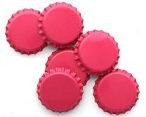 Beer Bottle Crown Caps - Oxygen Absorbing for Homebrew (Pink)