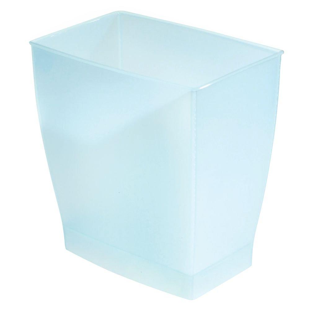 iDesign Spa Rectangular Trash, Waste Basket Garbage Can for Bathroom, Bedroom, Home Office, Dorm, College, 2.5 Gallon, Set of 1