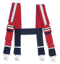 Ergodyne Arsenal 5093 Quick Adjust Suspenders-Reflective, 36-Inch,Red