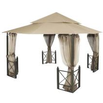 Garden Winds Replacement Canopy Top Cover for Harbor Gazebo - Riplock 350 - Beige