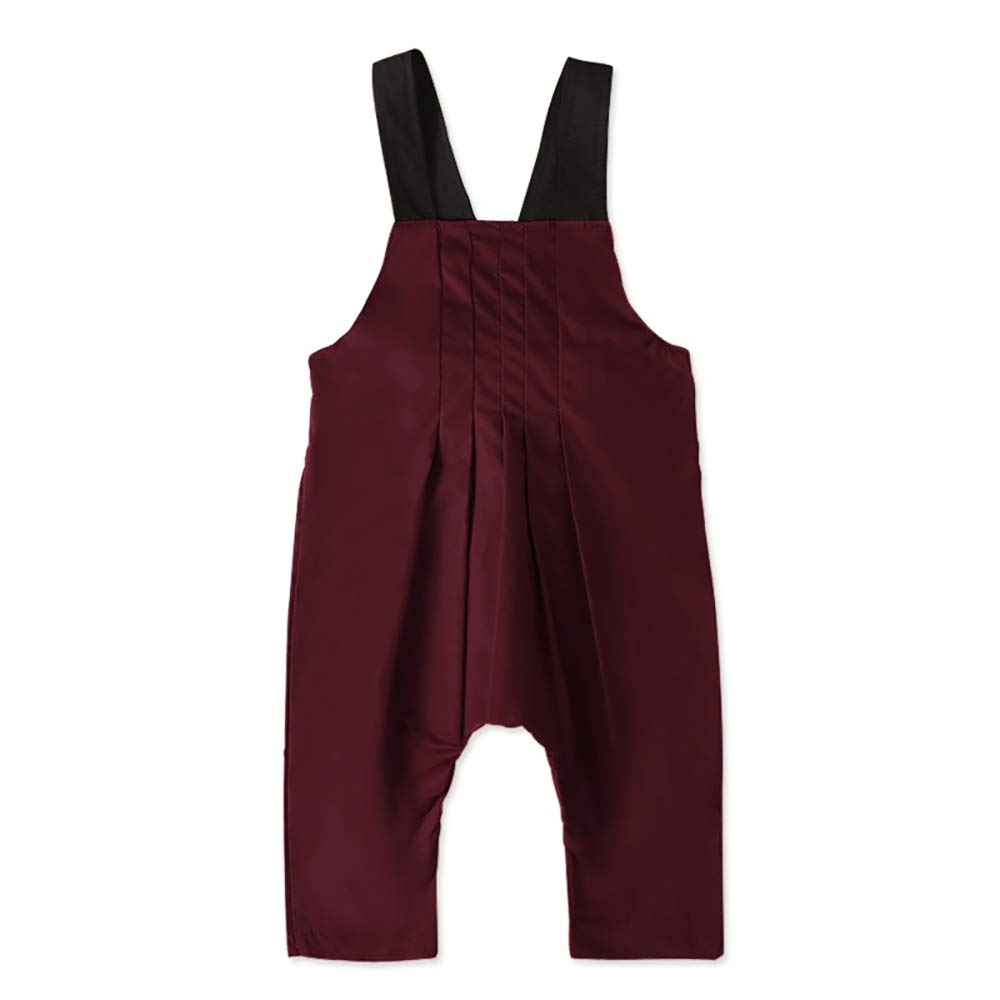 Newborn Baby Boys Romper Toddler One Piece Solid Color Overalls  Outfits Short Sleeve Halter Playsuit Jumpsuits Clothing