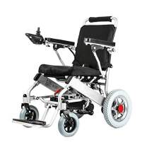 2020 New Majestic Buvan 601 Electric Wheelchairs Silla de Ruedas Electrica para Adultos FDA Approved Transport Friendly Lightweight Folding Electric Wheelchair for Adults (Silver)