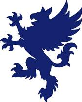 hBARSCI Heraldic Griffin Vinyl Decal - 5 Inches - for Cars, Trucks, Windows, Laptops, Tablets, Outdoor-Grade 2.5mil Thick Vinyl - Cobalt Blue