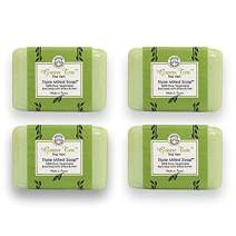 Bisous de Provence French Soap Green Tea | The Vert Triple Milled Soap enriched with Shea Butter | 100% Pure Vegetable Based | Made in France | Paraben Free | 7 oz, 200g Soaps (4 Bars)