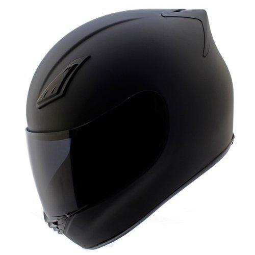 Duke Helmets DK-120 Full Face Motorcycle Helmet, XX-Large, Matte Black