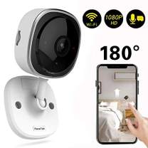 Wireless Security Camera 1080P,180 Degree Panoramic Camera with Motion Detection,Night Vision,Two-Way Audio,Home Security WiFi IP Camera for Office/Baby/Nanny/Pet Monitor (White-1 Pack)