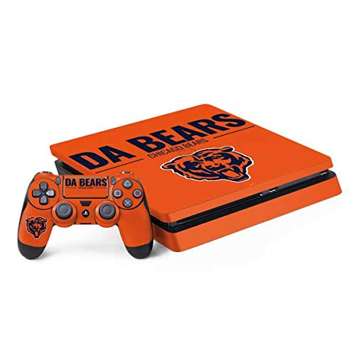 Skinit Decal Gaming Skin for PS4 Slim Bundle - Officially Licensed NFL Chicago Bears Team Motto Design