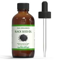 SVA ORGANICS Therapeutic Grade Black Cumin Seed Oil Virgin Unrefined 4 Oz (118 Ml) Organic Cold Pressed Nigella Sativa Kalonji 100% Pure Natural USDA Certified