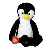 My Baby's Heartbeat Bear - Vintage Stuffed Penguin with a 20 Second Voice/Sound Recorder Keeps Your Baby's Ultrasound Heartbeat Safe! - Vintage Penguin